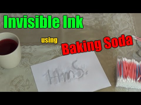 How to make an INVISIBLE INK (using BAKING SODA)