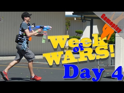 King Of The Hill | Week Of Wars! | Day 4 | Modded Stryfe Nerf War Gameplay