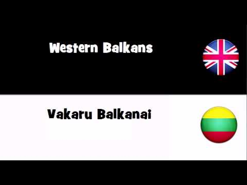 Say it in 20 languages # Western Balkans