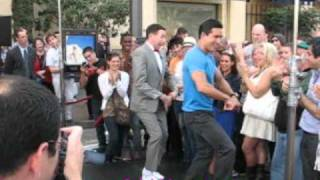Pee Wee Herman and Mario Lopez Of Extra Do The Pee-Wee Dance @ The Grove
