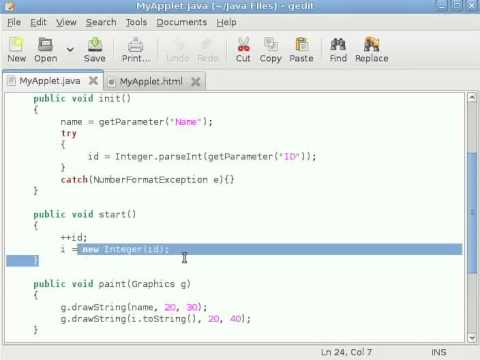 java-applet-tutorial-#6-passing-parameters