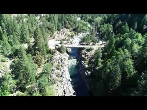 Emerald Pools South Yuba River Drone Flyover July 2019 CA - HD 4K