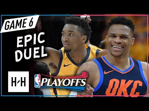 Donovan Mitchell Vs Russell Westbrook EPIC Game 6 Duel Highlights 2018 Playoffs - MUST WATCH!