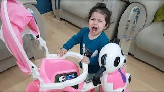 YAPRAK Bebek yeni bisikletine binemedi ağladı Eğlence Tv