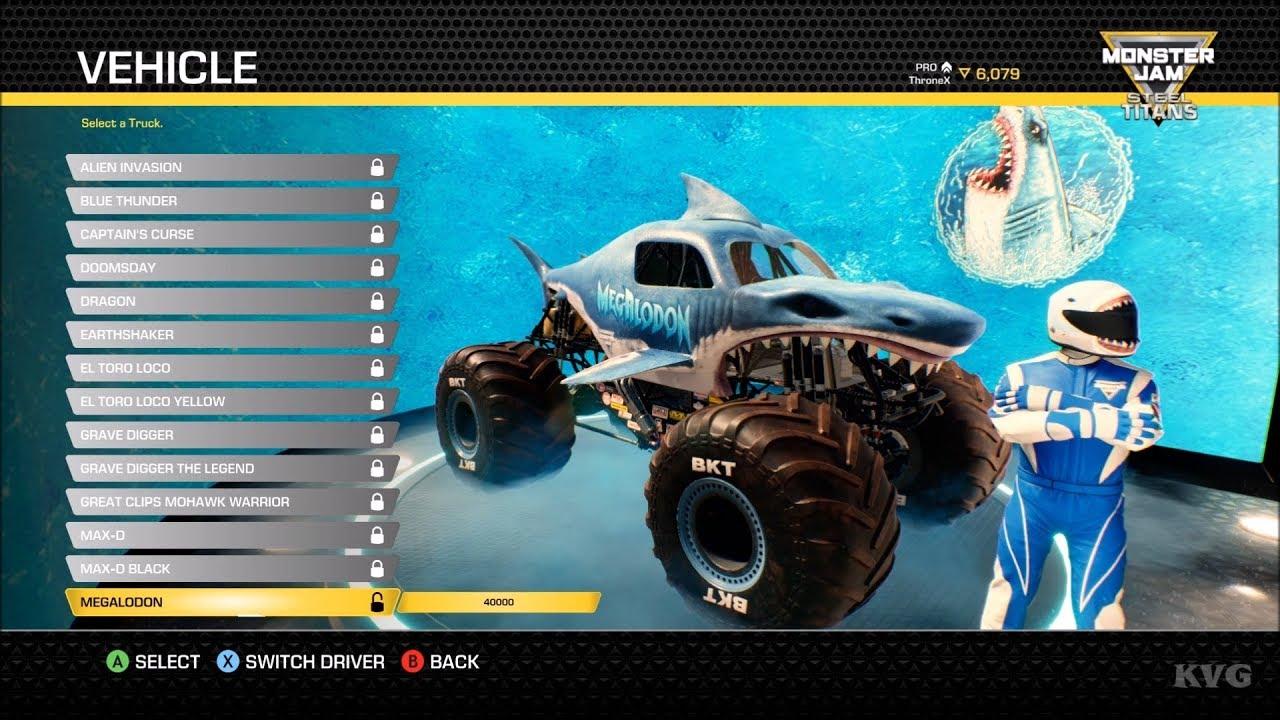 Monster Jam Steel Titans All Monster Trucks List Pc Hd 1080p60fps Youtube