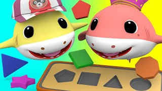 Learn Shapes With Baby Sharks  - Nursery Rhymes Songs For Children