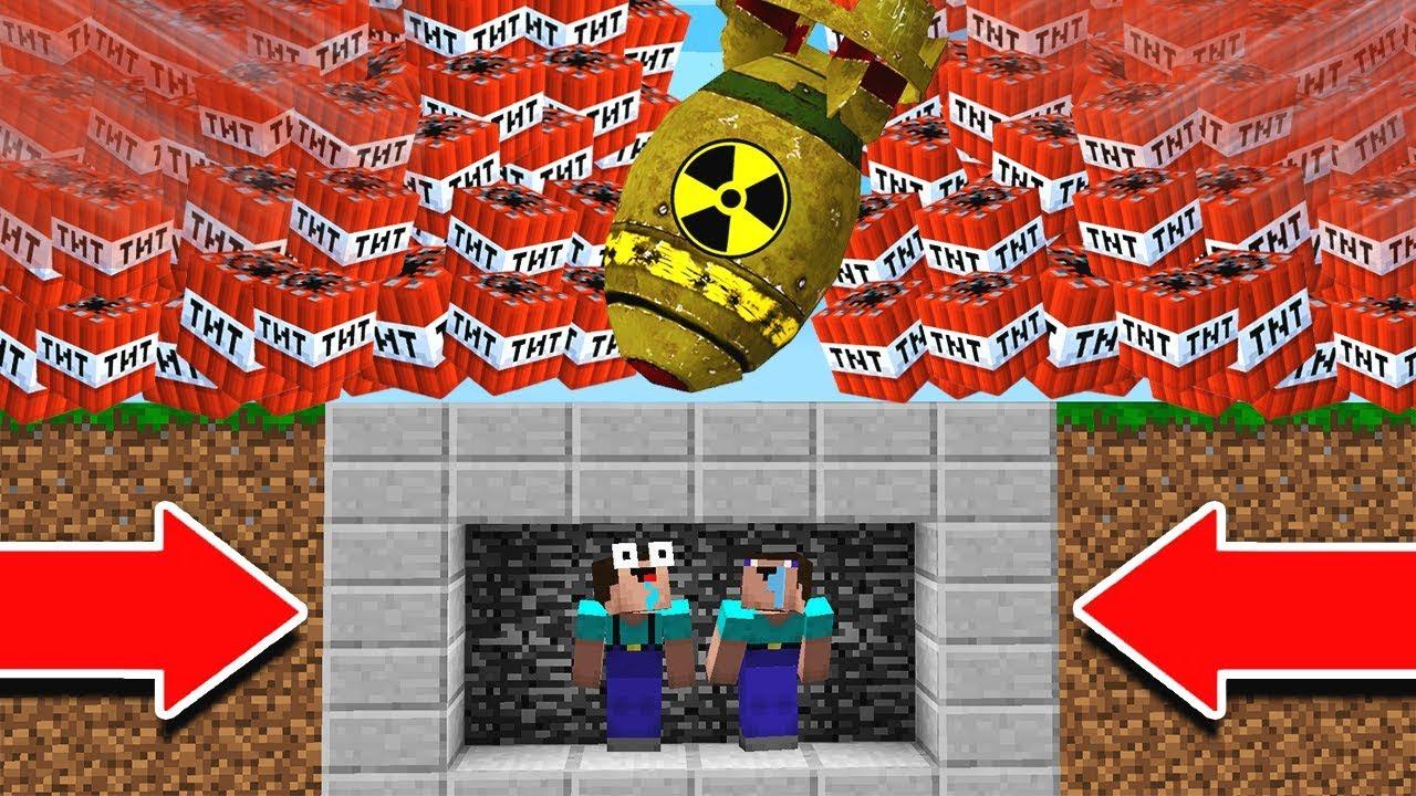 EXTREME TNT NUKE VS  MINECRAFT BUNKER!