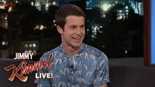 dylan minnette on 13 reasons why high school looking like jimmy kimmel