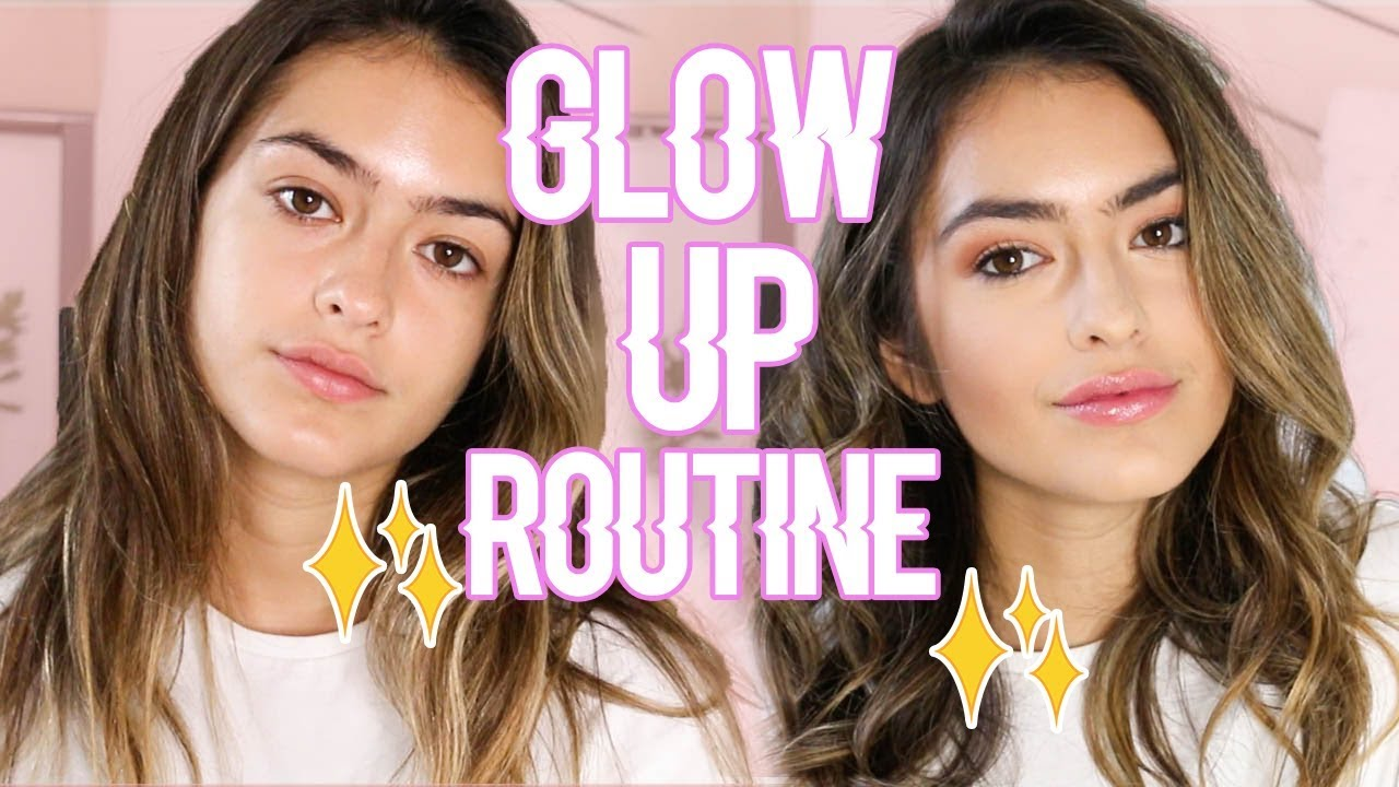 My Glow Up Routine Hair And Makeup Natalie Barbu Youtube