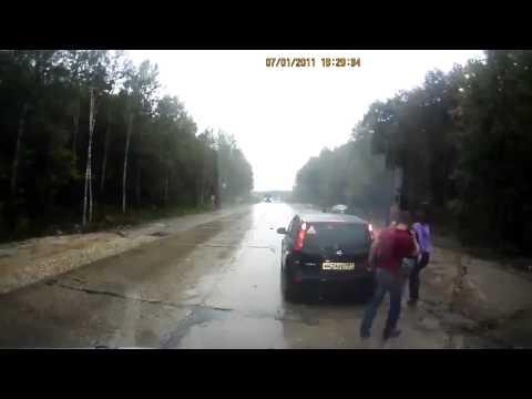 ДТП  Занесло на скорости Новосибирск) ДТП! Авария! Видеорегистратор