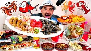 تحدي المأكولات البحرية - وجبة عملاقة من الأكل البحري بنسبة بروتين عالية ! SEAFOOD CHALLENGE