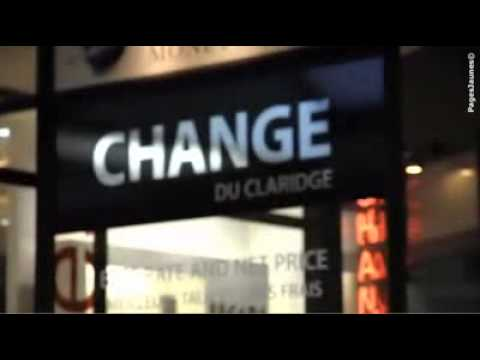 change du claridge bureau de change paris 8e youtube. Black Bedroom Furniture Sets. Home Design Ideas