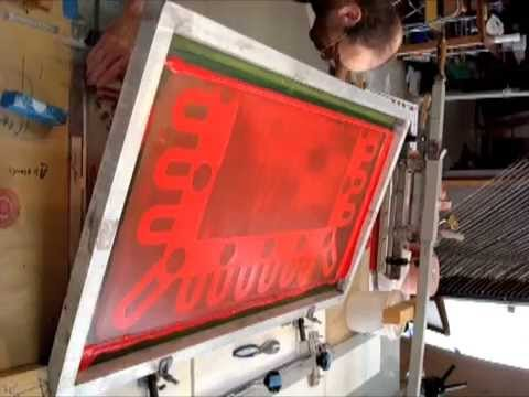 JEAN-PIERRE SERGENT AT WORK II PART VIII: THE SCREEN PRINTIN