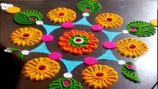 Innovative Rangoli Designs Using CD And Bangles| Creative Rangoli Designs By Shital Mahajan.