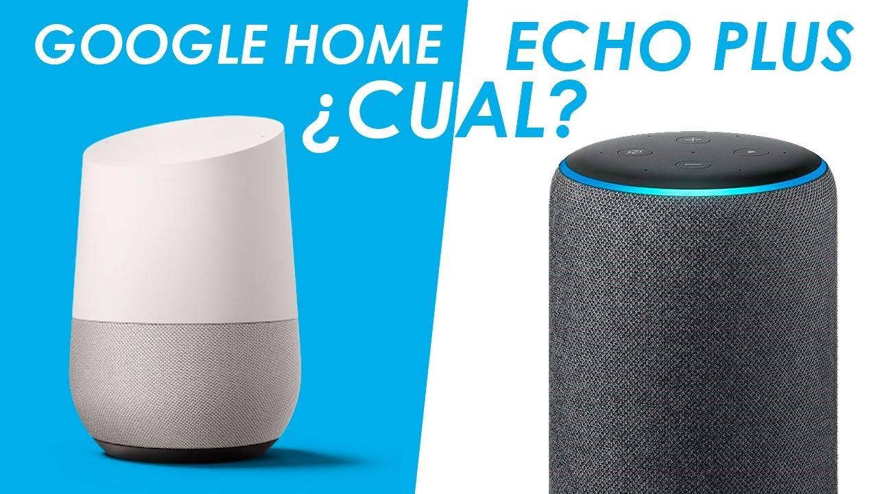 google home vs amazon echo plus español