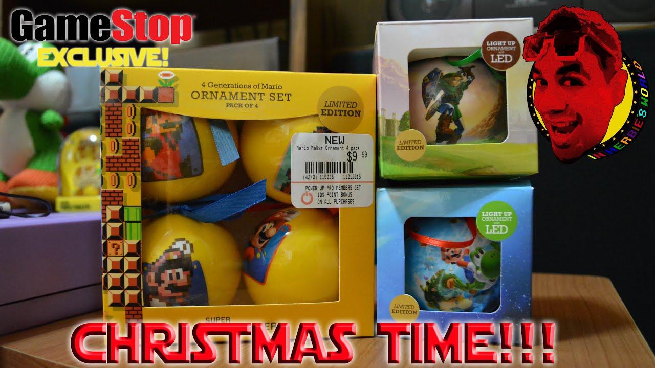 GameStop Exclusive Christmas Ornaments from Super Mario Maker