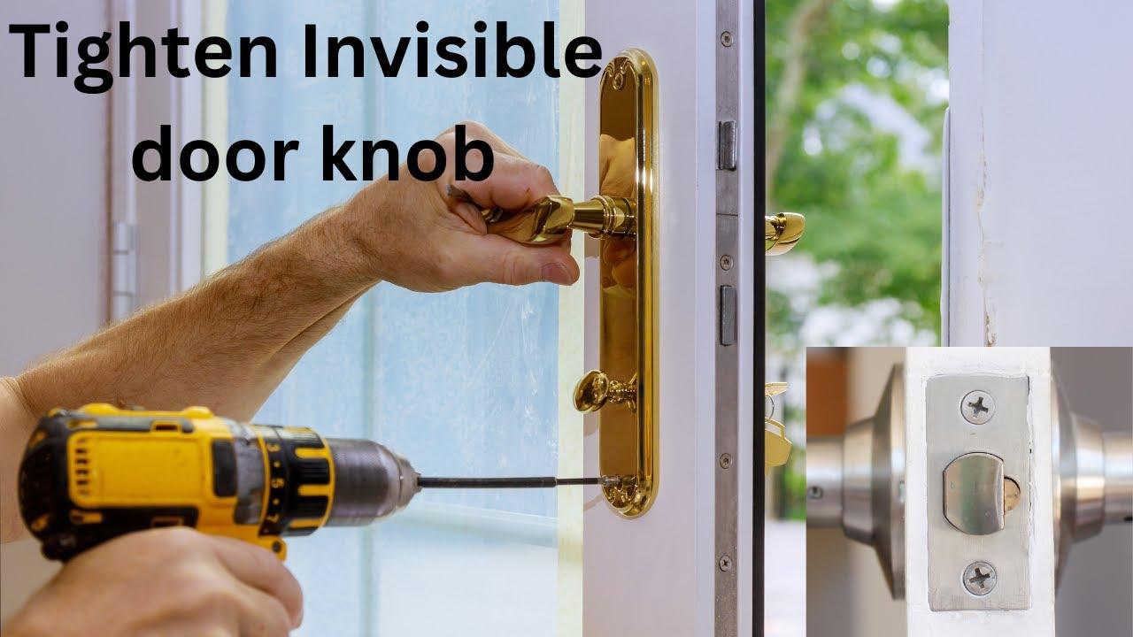 Tighten loose door handles with hidden screws - YouTube