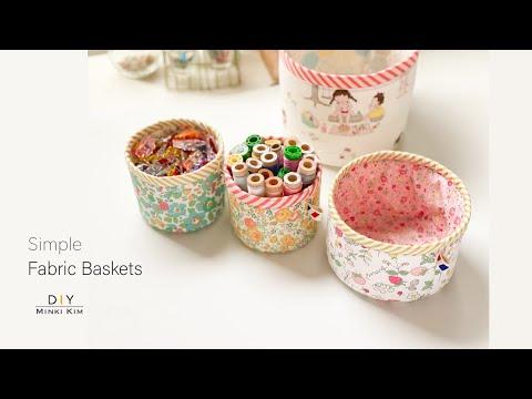 DIY Simple Fabric Basket 패브릭 바구니 Mini Fabric Bin