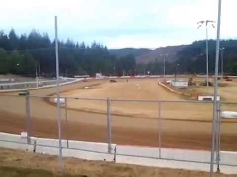 6-20-15 hornet roll over by tyler coos bay speedway