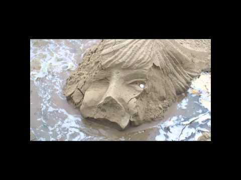Sand Sculpture, River Thames