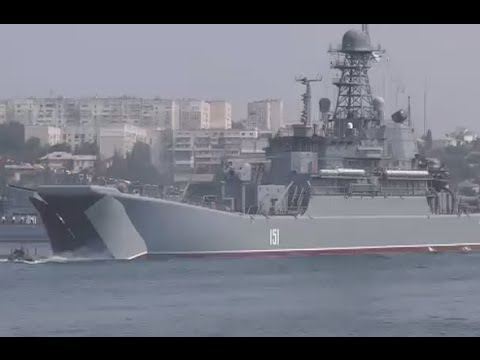 Warships, submarines & vessels: Navy Day Parade in Sevastopol, Russia