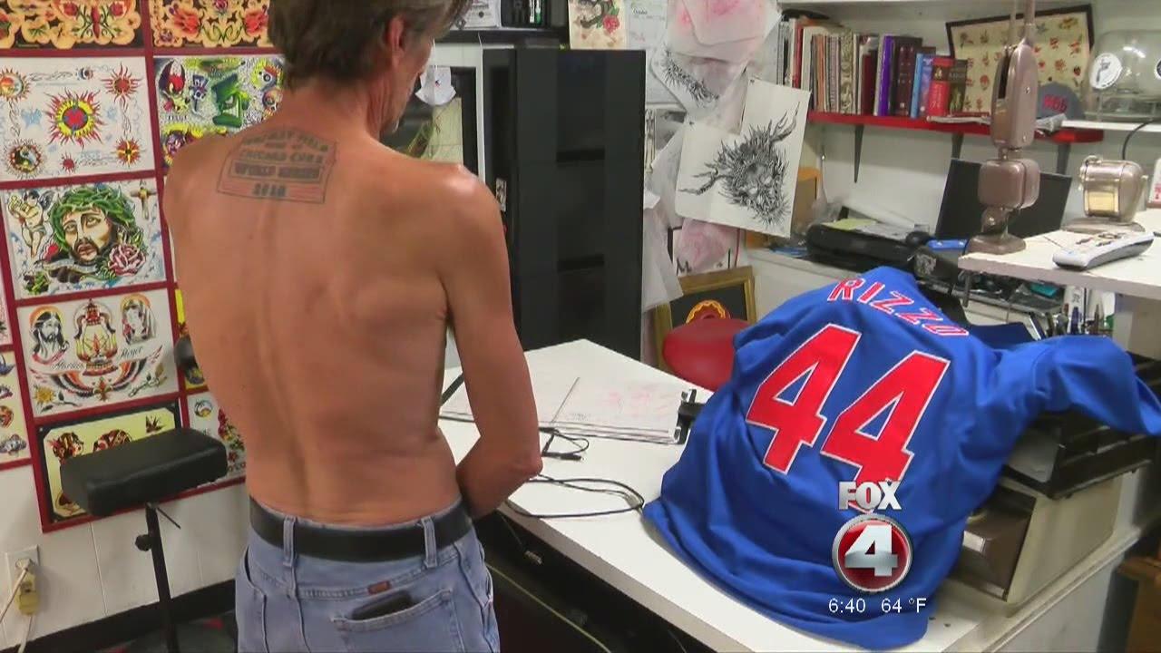 Cubs fan updates world series tattoo youtube for World series tattoo
