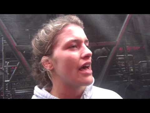 Helen Maroulis after Beat the Streets win in Times Square