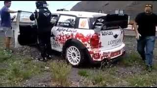 Así abandonó Luis Monzón el rally Villa de Adeje