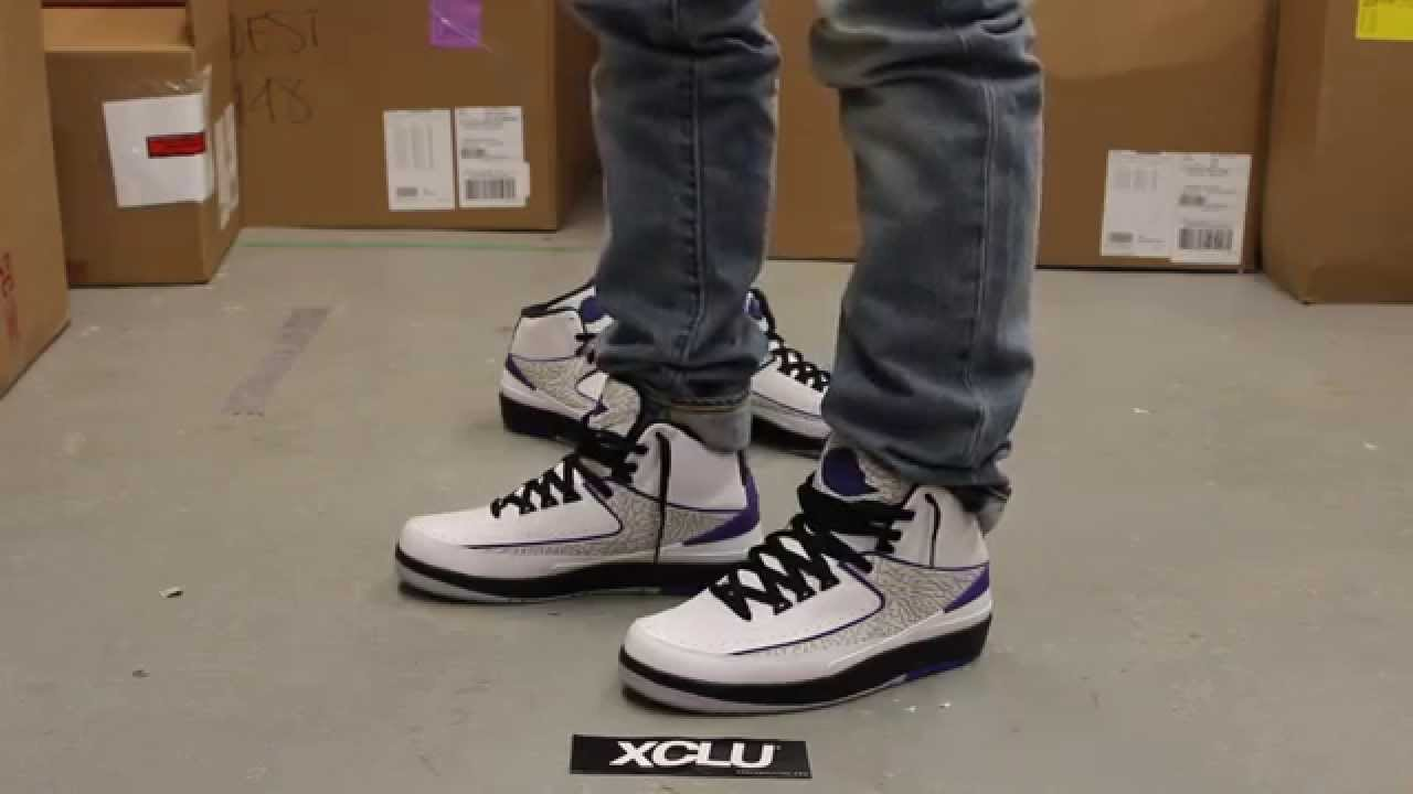 super popular ba3f7 fc4bb Air Jordan 2 Retro - Dark Concord - On-feet Video at Exclucity - YouTube