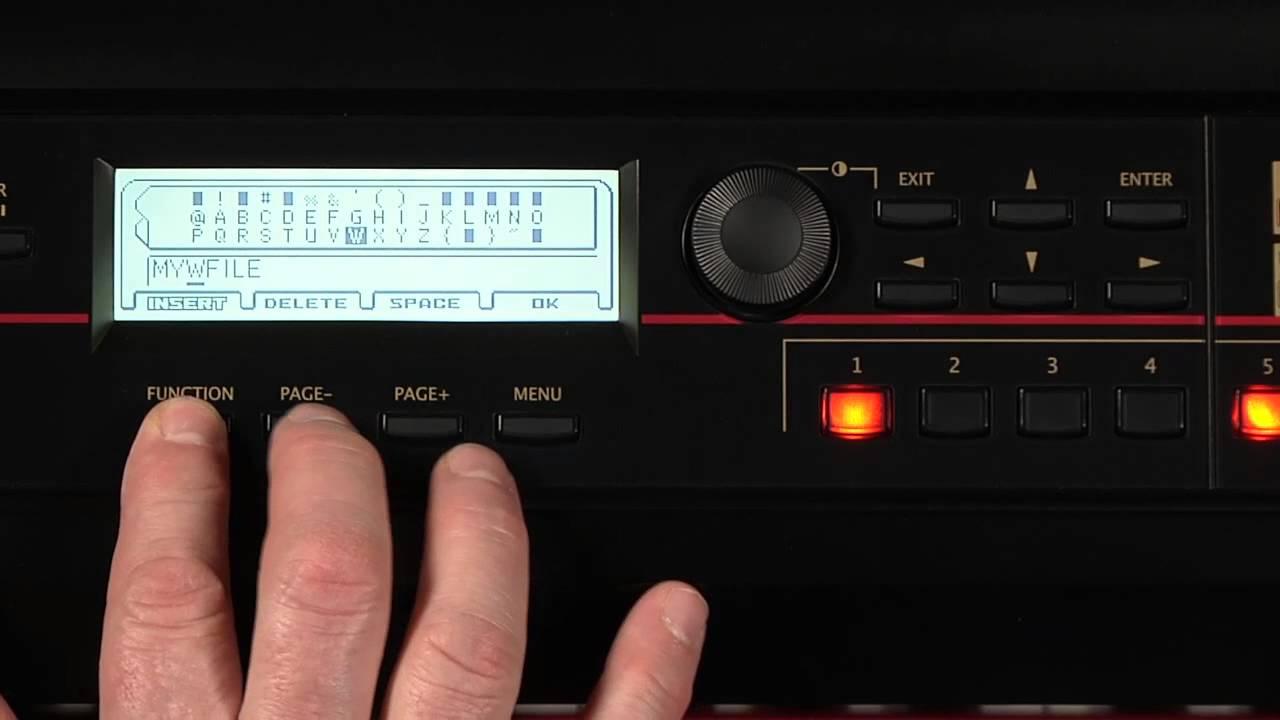 Korg Kross Music Workstation -- Video Manual part 5 of 5 -- Global & Media  Mode
