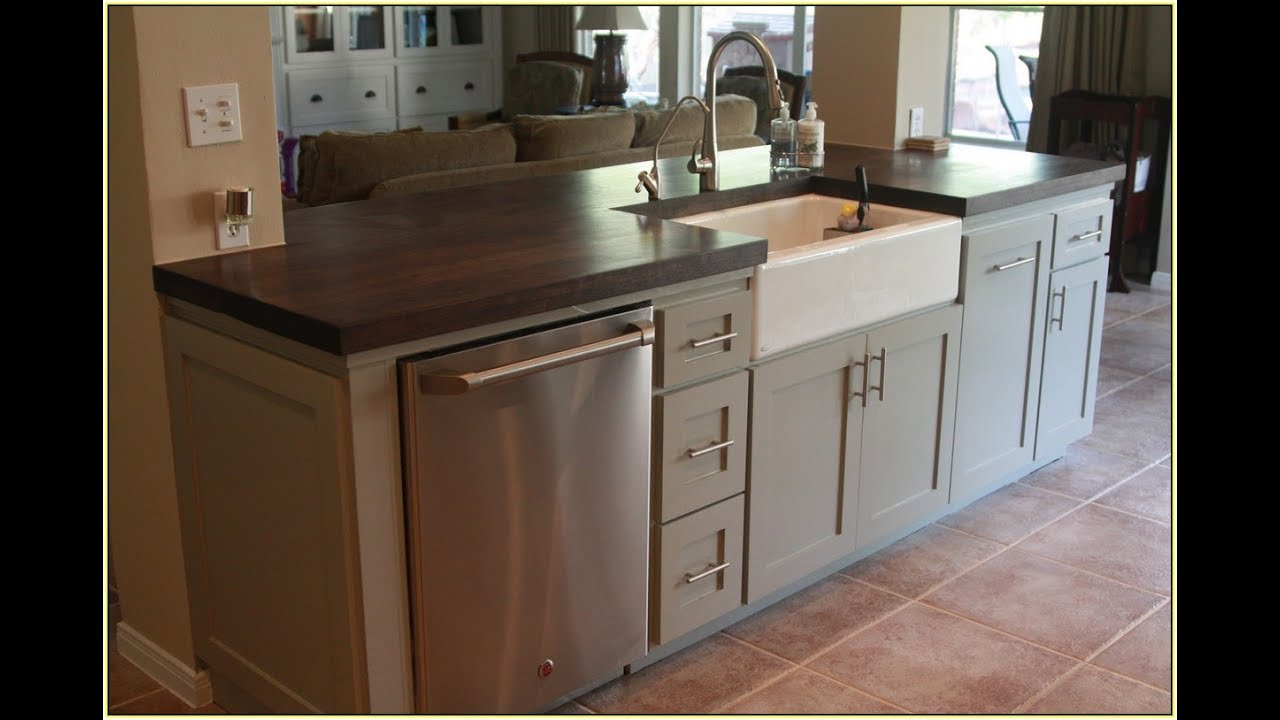 kitchen island with sink organization products islands and dishwasher youtube