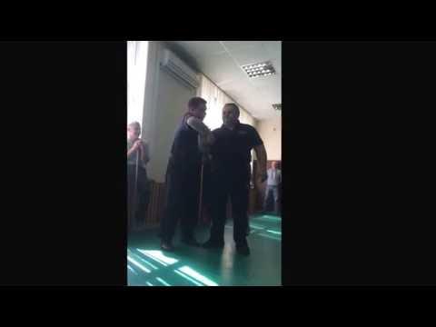Gentle demonstration by Master Mikhail Ryabko with Sergey Rodionov.