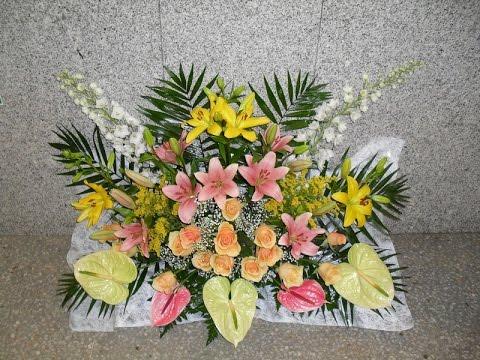 Como hacer ramos de flores para cementerio youtube - Como hacer ramos de flores ...