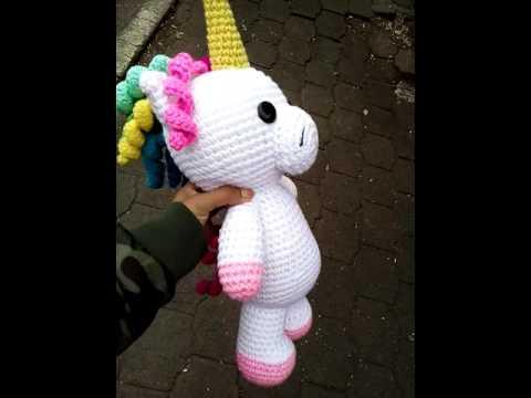 Amigurumi Unicornio Tutorial : Unicorn amigurumi unicornio amigurumi youtube