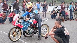 INTIP DERY SETTING MOTOR 500METER SAMPAI PIT CREW BILANG BUNGKUS