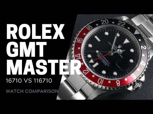 Rolex GMT-Master II 16710 vs 116710 Watch Comparison | SwissWatchExpo