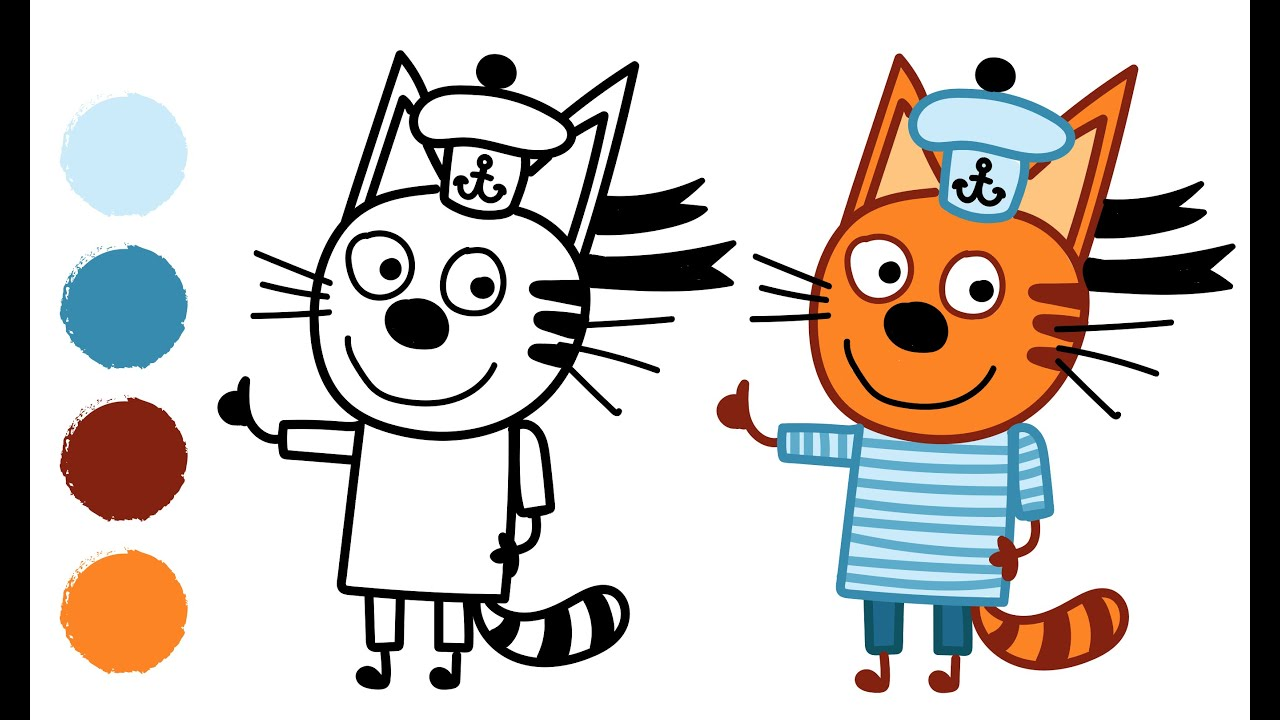 Коржик три кота картинка