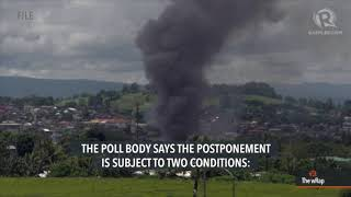 Comelec postpones barangay, SK polls in Mindanao