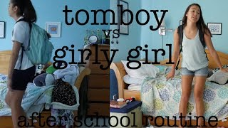 TOMBOY vs GIRLY GIRL: AFTER SCHOOL | just tomboy things