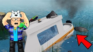 ROBLOX: THE BOAT BROKE IN THE MIDDLE OF THE SEA AND WE WERE LOST! (Stranded)-Play Old man