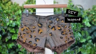 Diy Leopard Print Shorts Tutorial With Mr. Kate - Snazzy Summer Shorts Series
