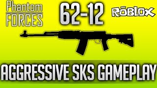 62-14 | SKS - Aggressive Rushing SKS Gameplay - Roblox: Phantom Forces