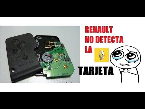 Reparar Tarjeta Renault Megane Tarjeta No Detectada Card