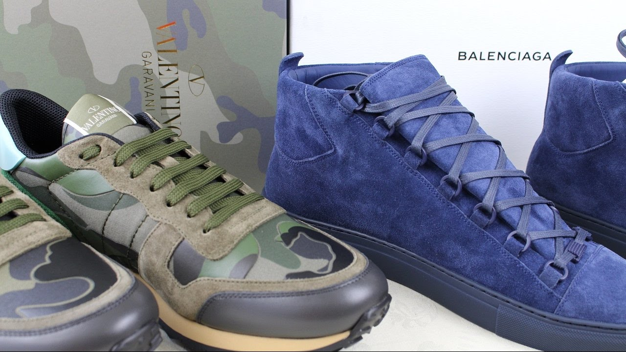 6ed04ff7d3ac1 Suede Balenciaga Arena   Valentino Rock Runners Unboxing Fit Review ...