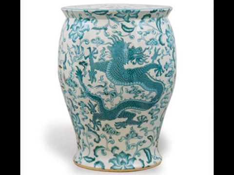 Fancy Chinese Garden Stool  -  Belleandjune Com