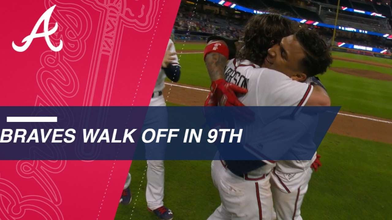 Braves chip away, walk off on Camargo's HR in 9th