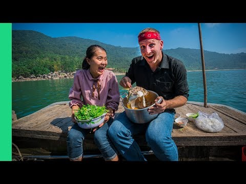 HOTPOT On A Boat And Discovering Vietnam's WILDEST Fish Market (We Found A Shark!)