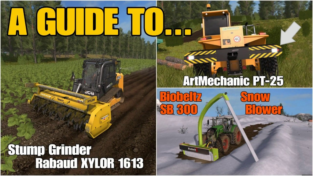 Farming Simulator 17 PS4: A Guide to    Triple Mods (PT-25, Rabaud XYLOR,  SB 300 Snowblower) by MrSealyp