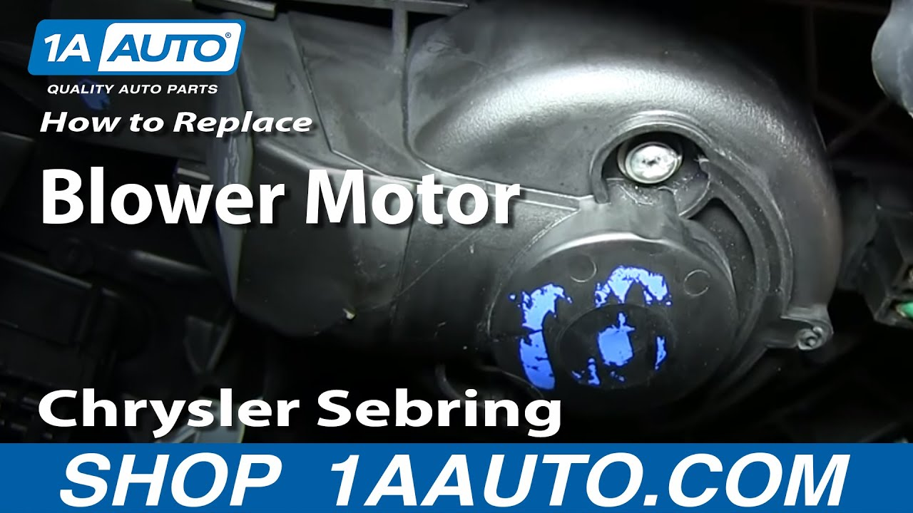 how to install replace heater ac fan blower motor 2001 06 chrysler sebring youtube [ 1920 x 1080 Pixel ]