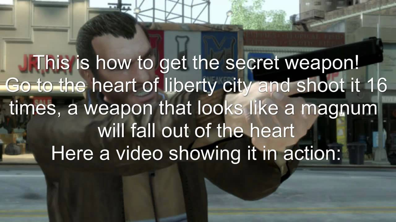 Gta 4 Secret Weapon Youtube